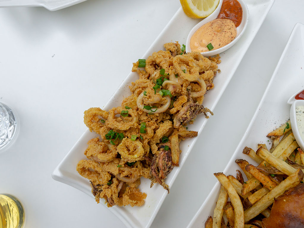 London Belle - turmeric fried calamari