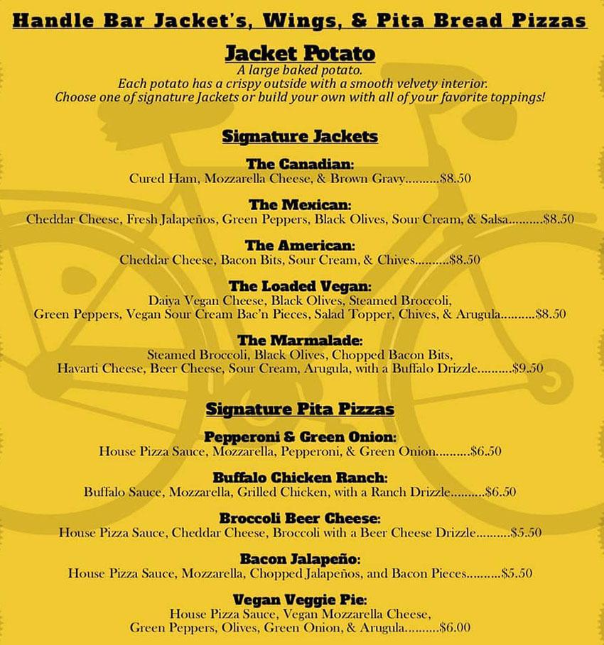 HandleBar menu - jacket potato