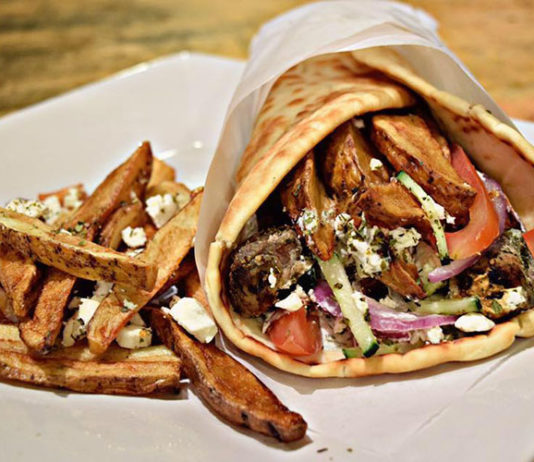 The Local Greek - gyro and fries (The Local Greek)