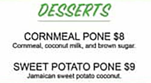 11 Hauz Jamaican Food menu - desserts