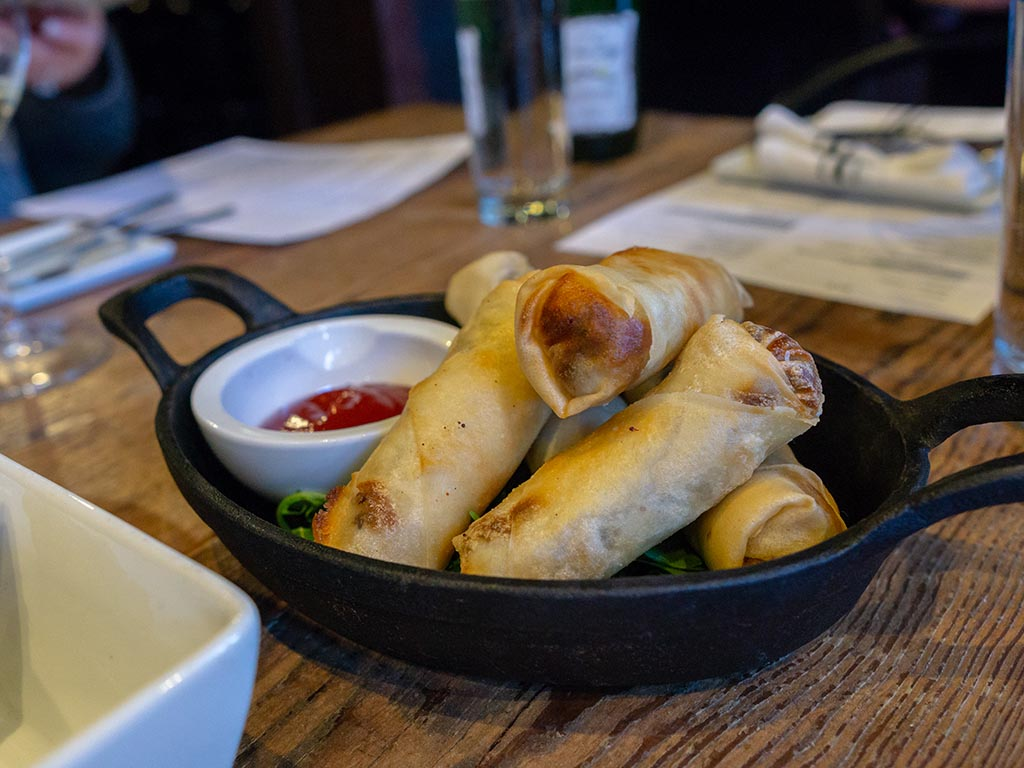 Bar George - cheeseburger egg rolls