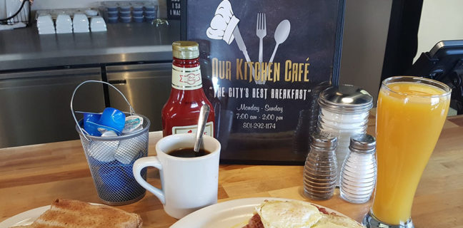 Corned beef hash and eggs (Our Kitchen Cafe)
