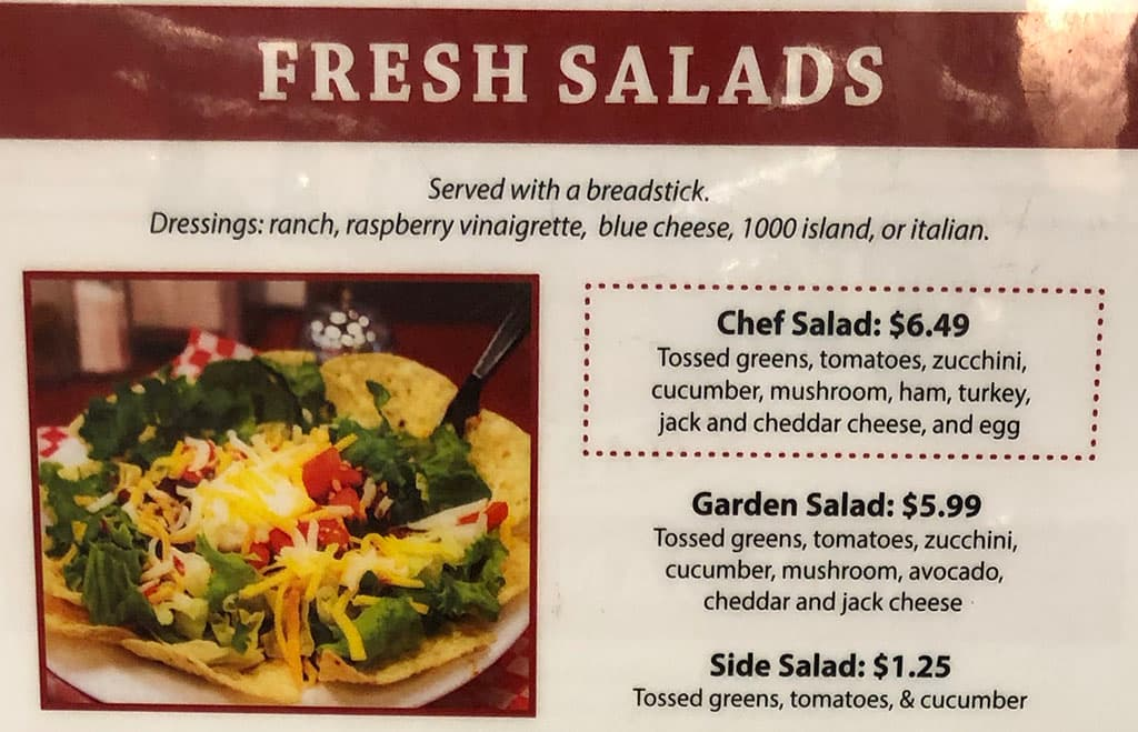 The Deli At University Pharmacy menu - salads