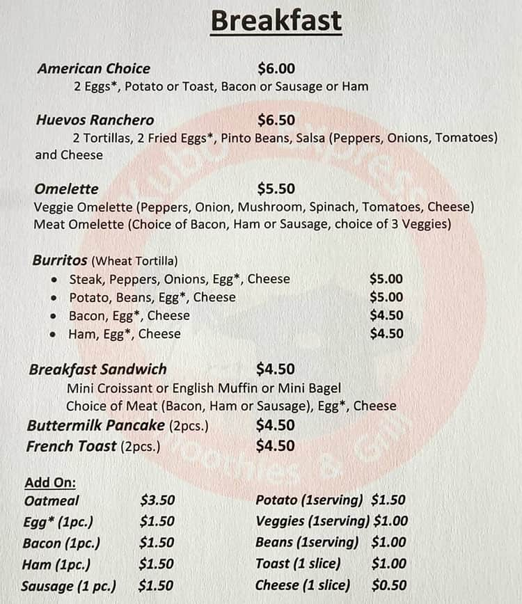 Kubo Express Smoothies And Grill menu - breakfast