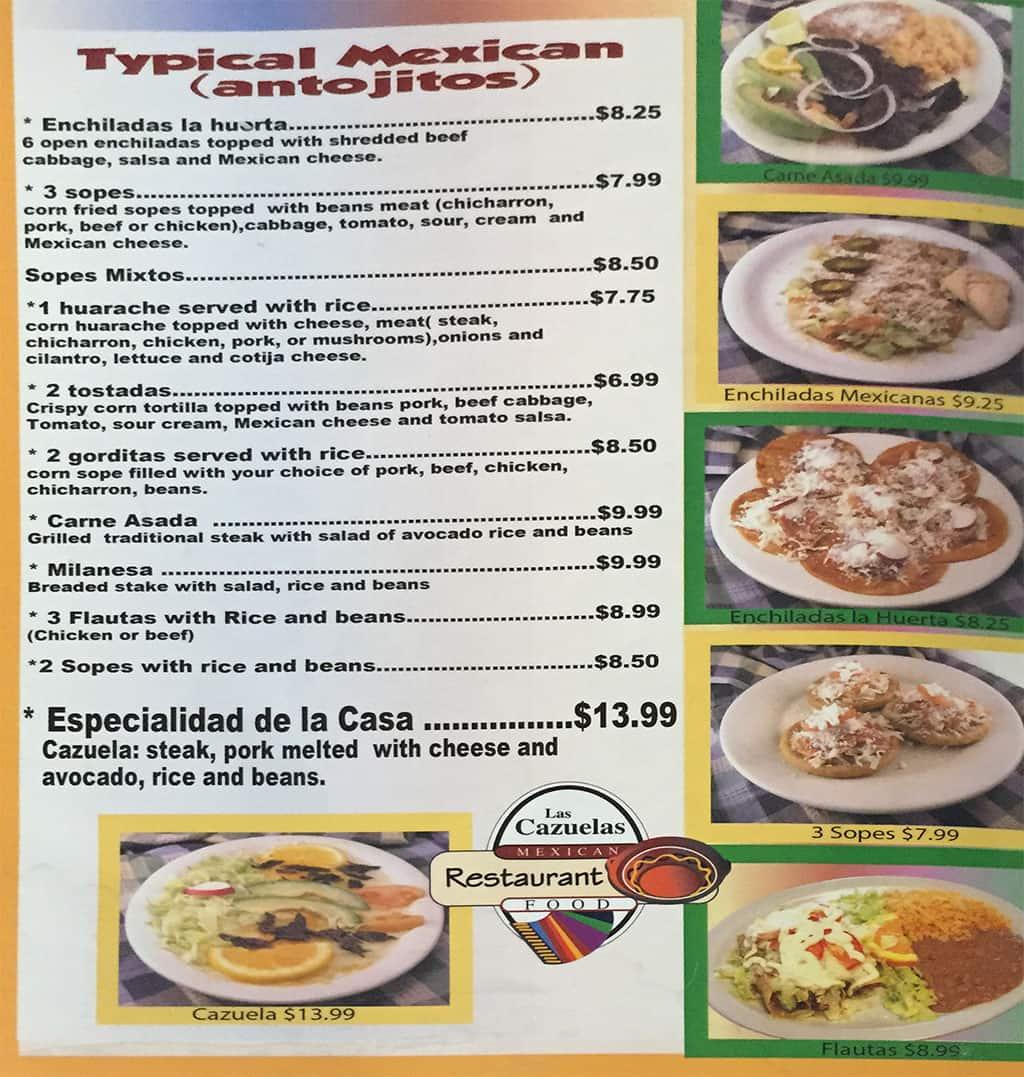 Las Cazuelas menu - antojitos