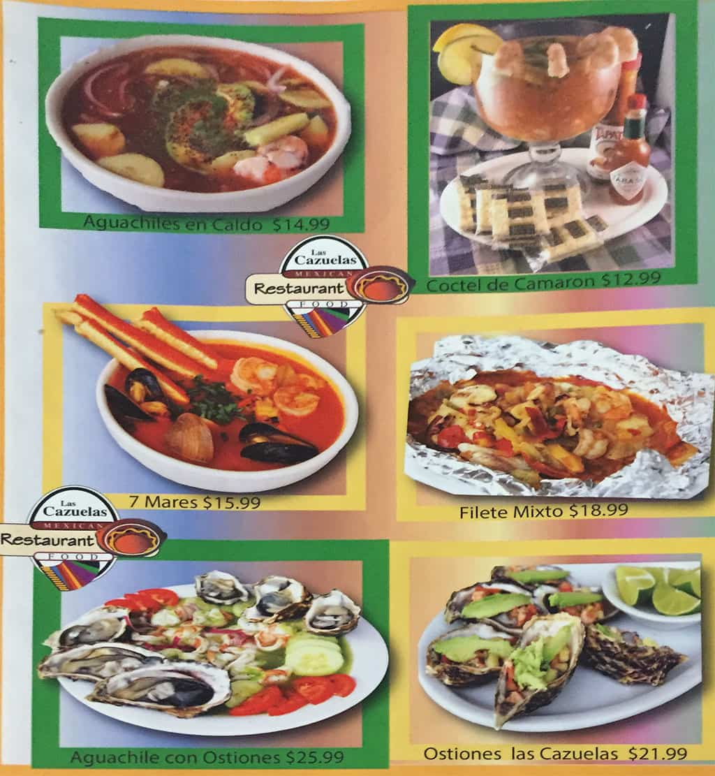 Las Cazuelas menu - specials