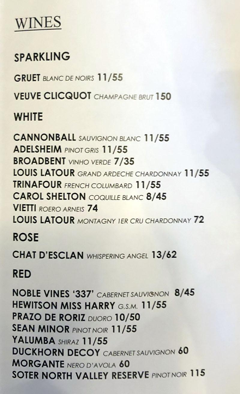 SLC Eatery menu - cocktails, beer