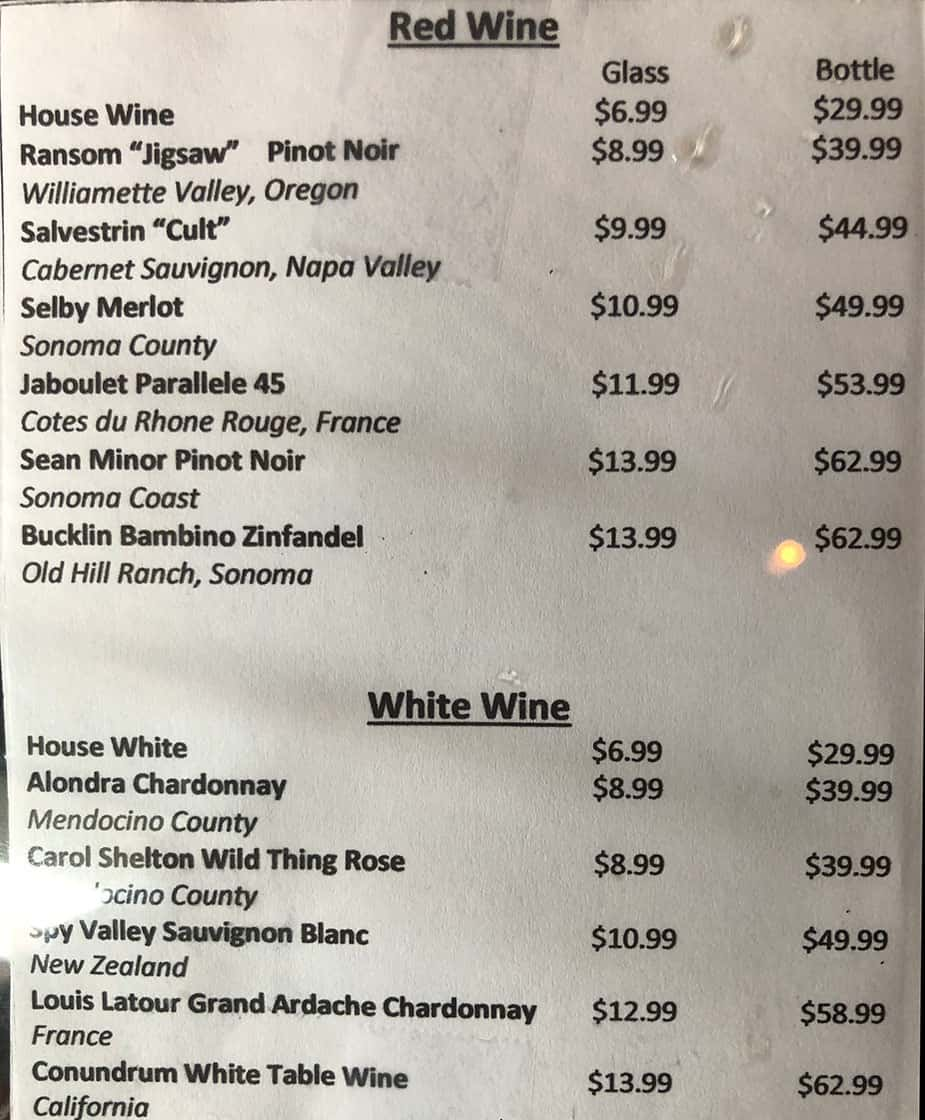 Kaze Sushi Bar And Grill - wine