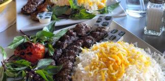 Beef kebobs (Sumac Cafe)