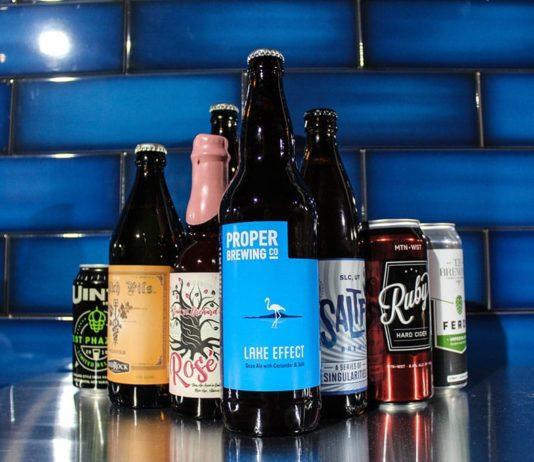 Utah beers (Craft By Proper)