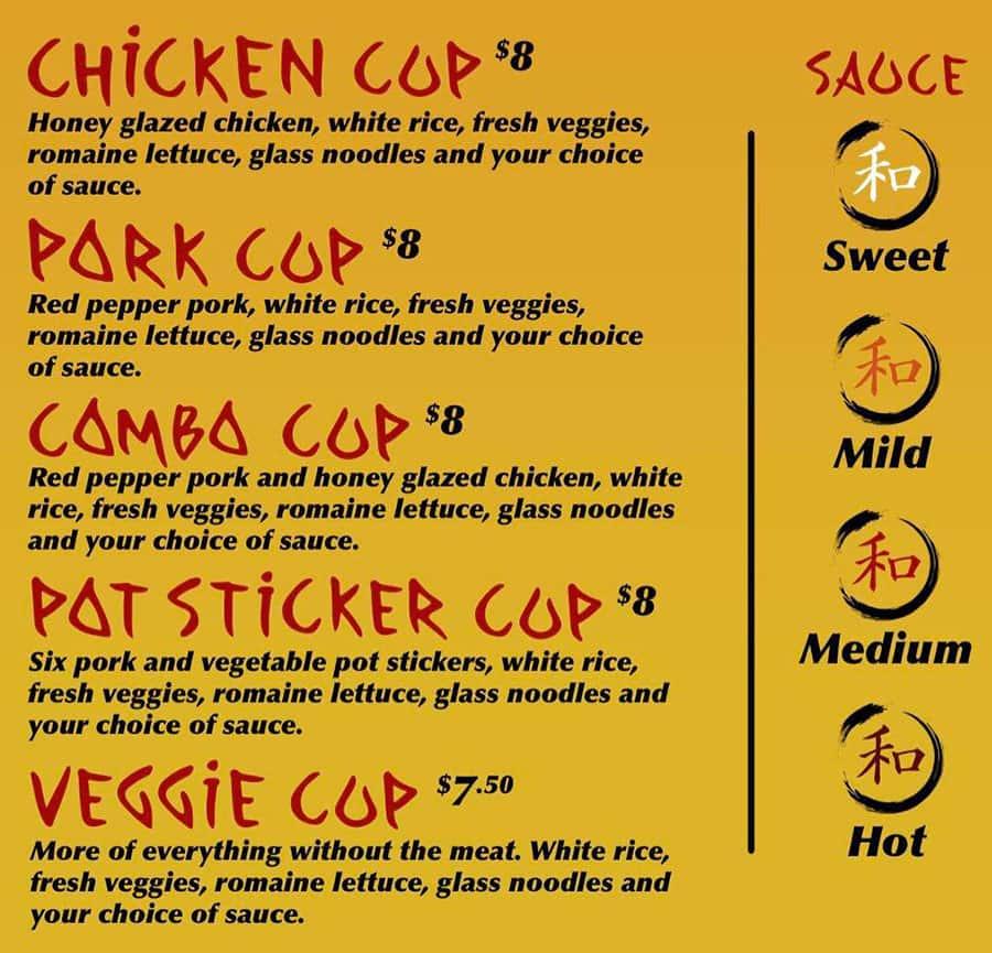 misoYUM food truck menu
