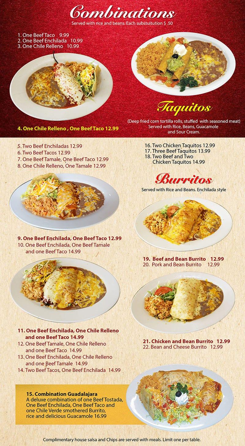 Mi Ranchito Grill menu - combinations