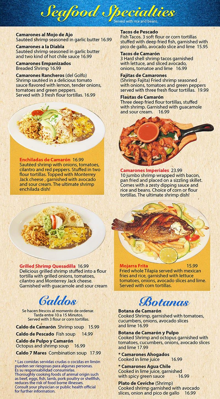 Mi Ranchito Grill menu - special combos, house specials