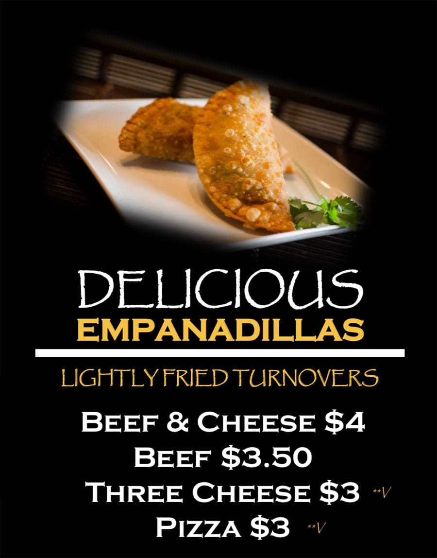 Papito Moe's food truck menu - empanadillas